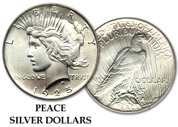 Peace Silver Dollars - $1