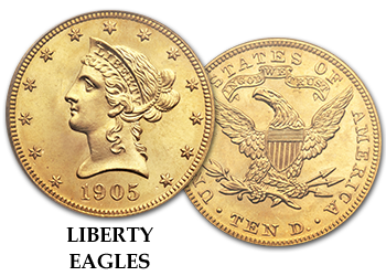 Liberty Gold Half Eagles - $10 Gold Pieces