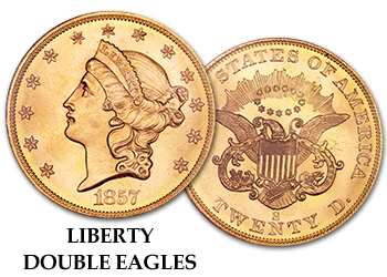 Liberty Gold Double Eagles - $20 Gold Pieces