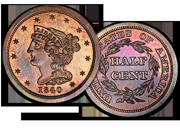 Half Cents - 1/2c