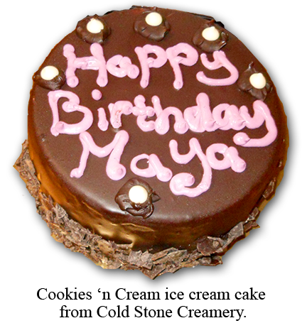 Southgate Coins upholds company tradition by presenting Maya Jones with her birthday cake
