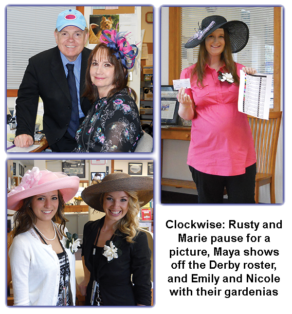 Southgate Coins Kentucky Derby Day tradition involves all employees to wear hats and pick a horse to win