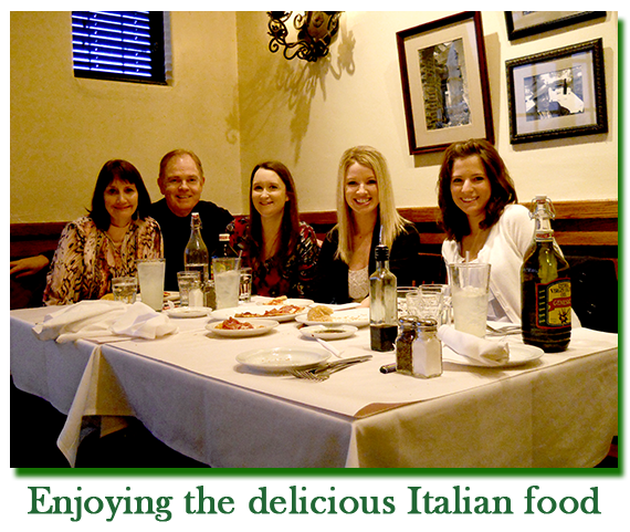 Southgate Coins owners Rusty and Marie Goe treat their employees to a traditional company dinner for the holidays