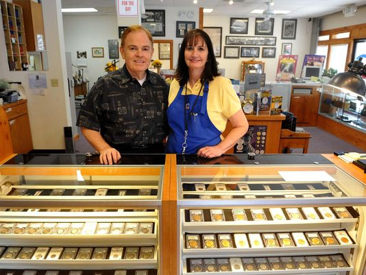 Rusty Goe and his wife, Marie, opened Southgate Coins on Sept. 11, 2001. They will close the store in November.