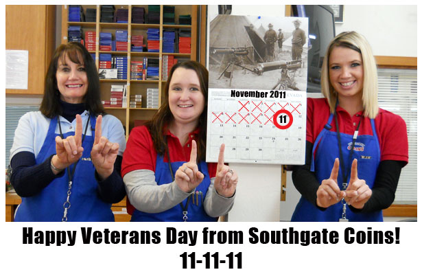 Southgate Coins employees celebrate Veteran's Day 2011