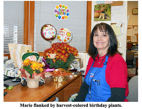 Southgate employees honor owner Marie Goe on her birthday