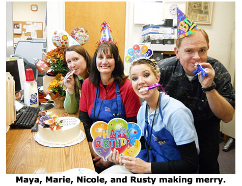 Rusty Goe knows how to Celebrate Marie's Birthday at Southgate Coins