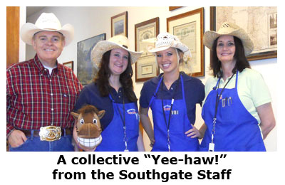 Southgate Coins staff and stick horse love Reno Rodeo