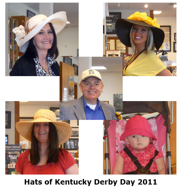 Southgate Coins celebrates Kentucky Derby Day with traditional hats