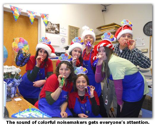 Southgate Coins makes some noise at Elaine's birthday celebration