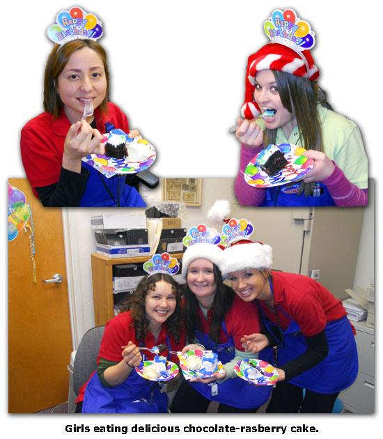 Southgate Coins employees always enjoy delicious cake at birthday celebrations