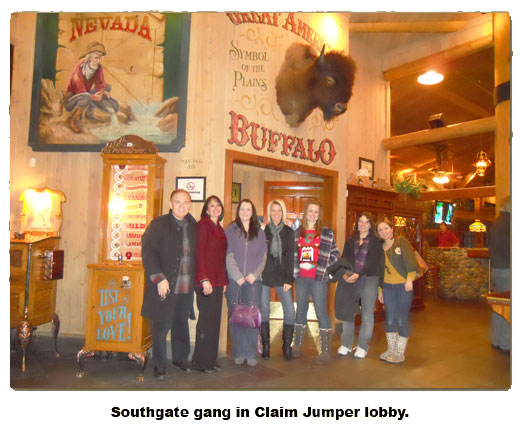 Southgate Coins employees gather at Claim Jumper to celebrate Christmas