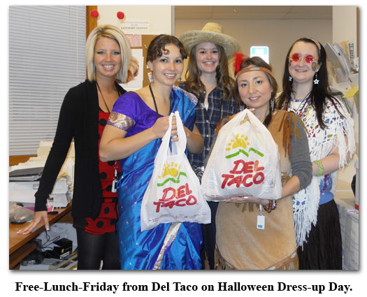 Halloween Dress-up Day is no exception to Free Lunch Friday at Southgate Coins