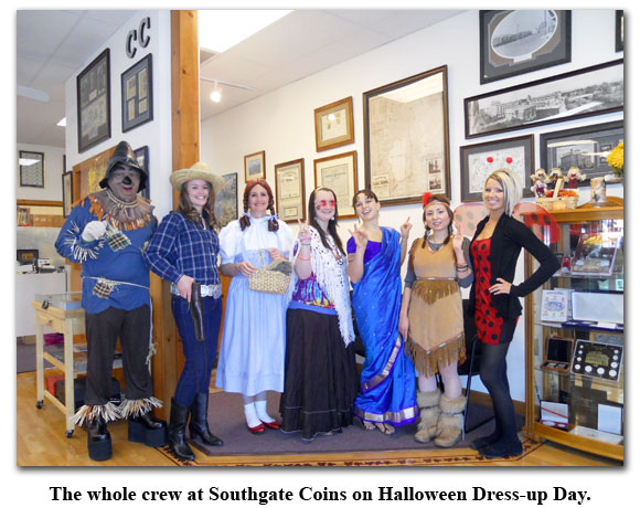 The whole Southgate Coins staff on Halloween 2010
