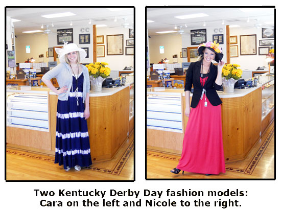 Southgate staffers Nicole and Cara show off their Kentucky Derby Day fashions