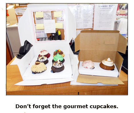 Southgate coins owner Rusty Goe treats staff to gourmet cupcakes for Kentucky Derby Day