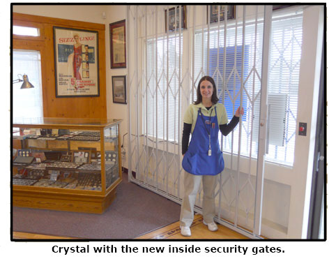 Crystal shows off Southgate Coins new interior security gates
