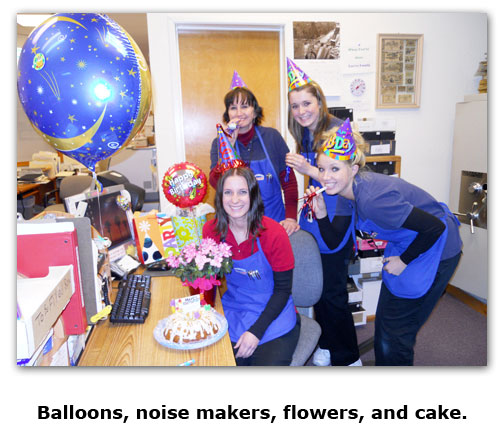 Southgate Coins treats staffer Crystal to a neat birthday celebration