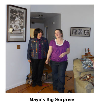 Southgate Coins employees surprise Maya with a baby shower