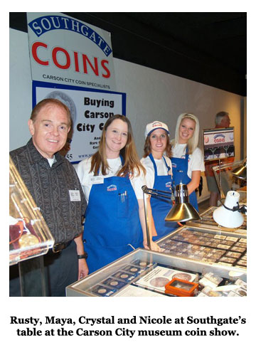 Southgate Coins staffers gather at the Carson City Coin Show