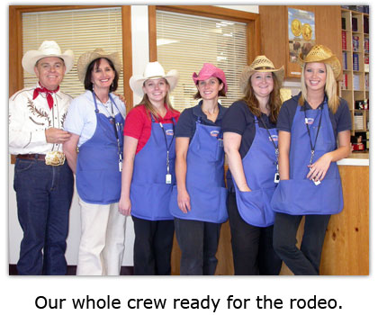 Southgate Coins employees don cowboy hats for Reno Rodeo Day