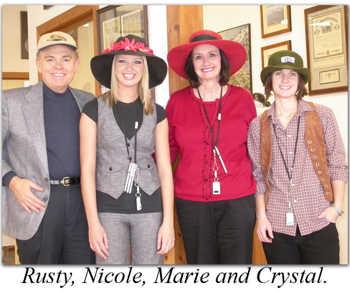 Rusty, Nicole, Marie, and Crystal gather to watch the Kentucky Derby