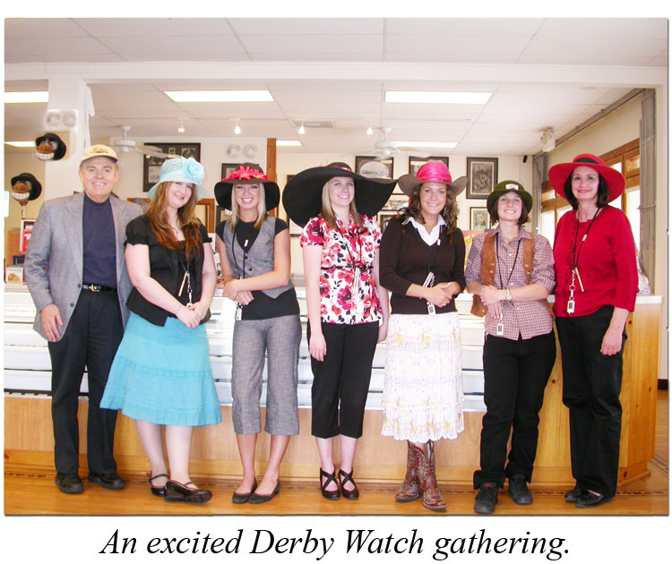 The Southgate Coins crew poses before the big horse race