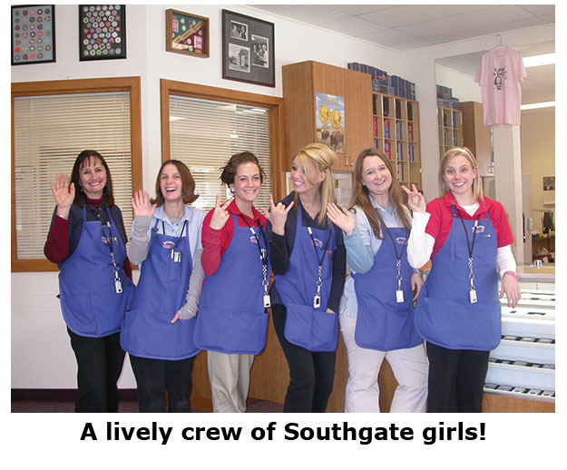 Southgate Coins staff enjoys celebrate Valentine's Day at the coin shop