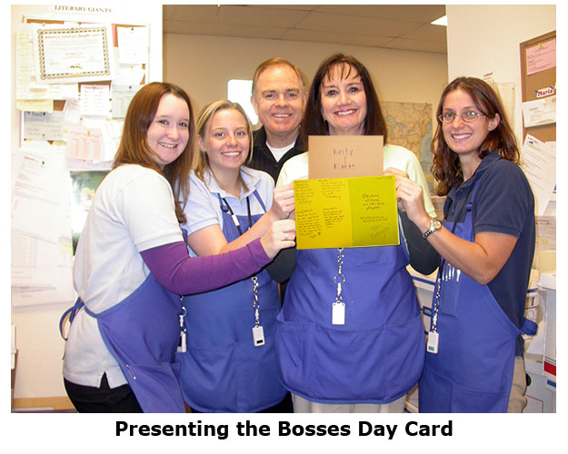 Employees surprise Rusty and Marie again on Bosses Day