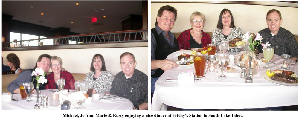 Southgate Coins owners Rusty and Marie dine at Friday's Station in South Lake Tahoe