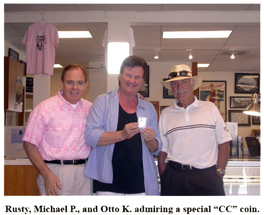 C4OAers Michael and Otto meet with club president Rusty Goe