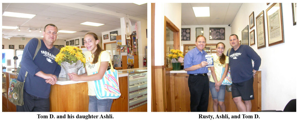 C4OAer Tom DeFina and his daughter Ashli stop in at Southgate Coins