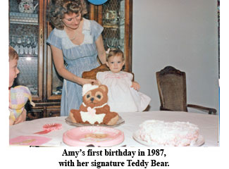 Amy Williams at 1 year old