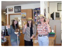 The Southgate Coins women pose with Horsey to pay homage to the Reno Rodeo