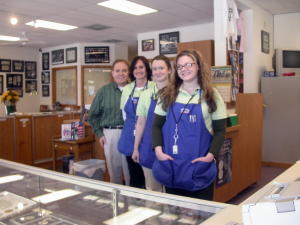 Southgate Coins employees posing on St. Patrick's Day