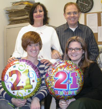 Amy and Kelsey both celebrate their 21st birthdays at the coin shop