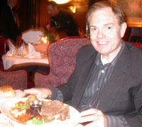 Southgate Coins owner Rusty Goe at the birthday dinner