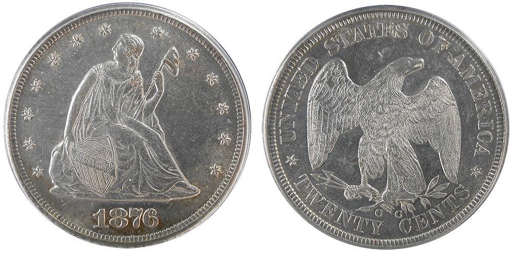 The 1876-CC Carson City Liberty Seated Twenty Cent Piece