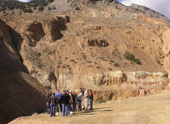 Carson City coin enthusiasts view the open Gold Hill Mine