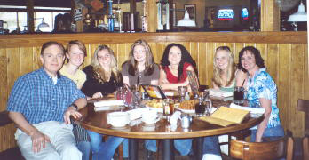 The Southgate Coins staff joins together to eat at Outback at the end of the UNR semester