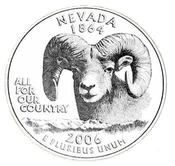 Southgate Coins displays a submission for the Nevada Statehood quarter design