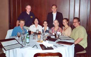 Southgate Coins employees dine at Harris Steakhouse