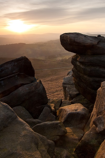 Stanage Edge - Nice light on the rocks, shame the sky is a little 'blown' in the highlights