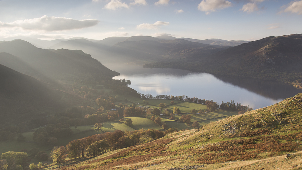 Looking down towards Ullswater from Hallin Fell
