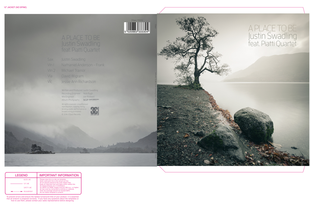 The final back (left) and front (right) covers...I can't wait to get my hands on the vinyl!