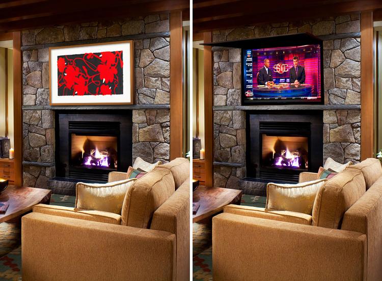 Tv Coverups living room installs — tv cover ups