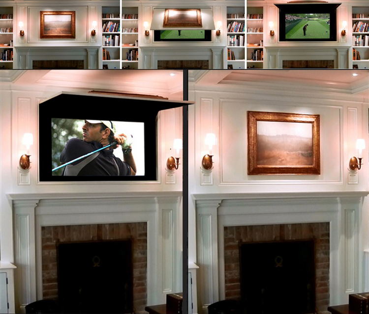 Hide TV with Panel Lift