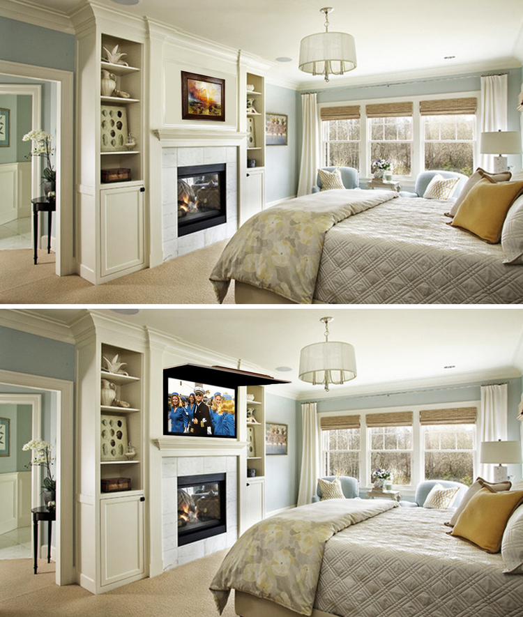 Tv Coverups bedroom installs — tv cover ups