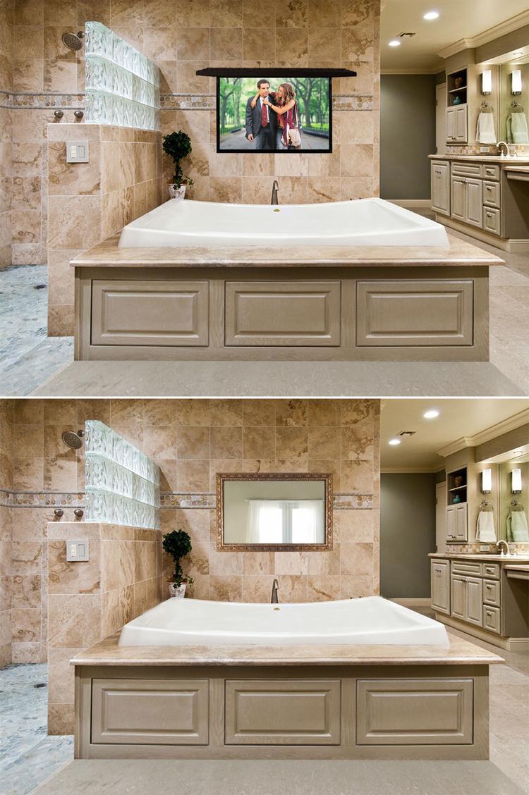 Tv Coverups bathroom install — tv cover ups