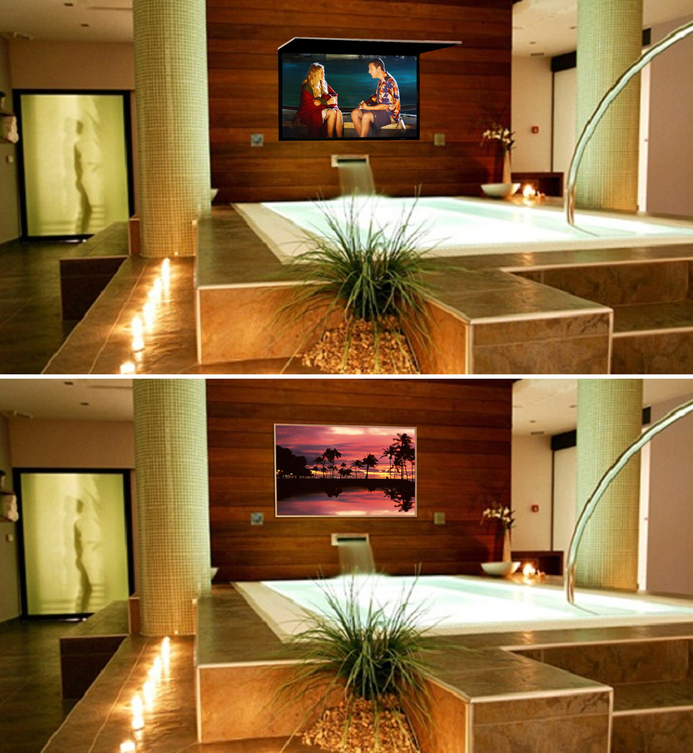 Bathroom TV Mirror